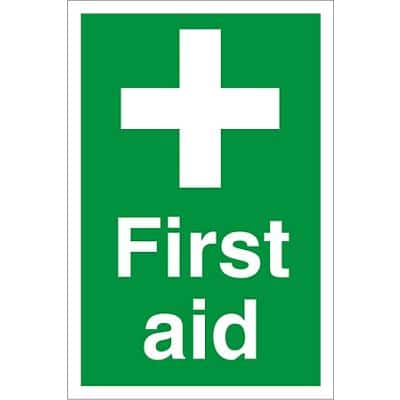 First Aid Sign First Aid Fluted Board 30 x 20 cm
