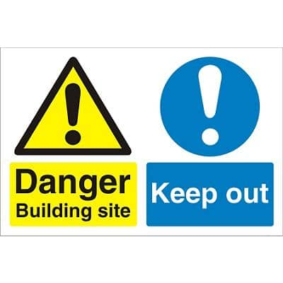 Site Sign Keep Out PVC 45 x 60 cm
