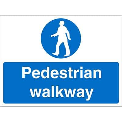 Mandatory Sign Walkway Fluted Board 45 x 60 cm
