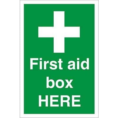 First Aid Sign First Aid Box Fluted Board 60 x 40 cm