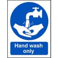 Catering Sign Hand Wash Only Vinyl 20 x 15 cm