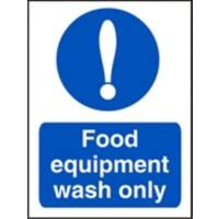 Catering Sign Food Equipment Vinyl 30 x 20 cm
