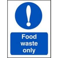 Catering Sign Food Waste Vinyl 30 x 20 cm