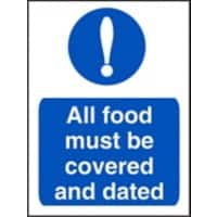 Catering Sign Covered And Dated Vinyl 20 x 15 cm
