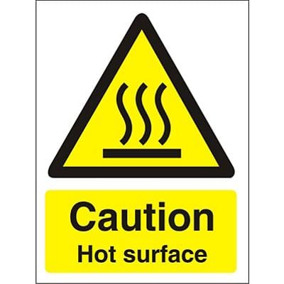 Catering Sign Hot Surface Vinyl 20 x 15 cm