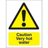 Catering Sign Very hot water Vinyl 30 x 20 cm
