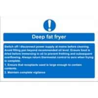 Catering Sign Fat Fryer Vinyl 15 x 20 cm
