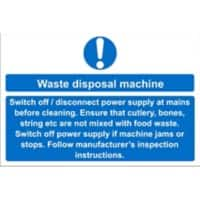 Catering Sign Waste Disposal Vinyl 15 x 20 cm