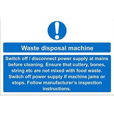 Catering Sign Waste Disposal Vinyl 20 x 30 cm