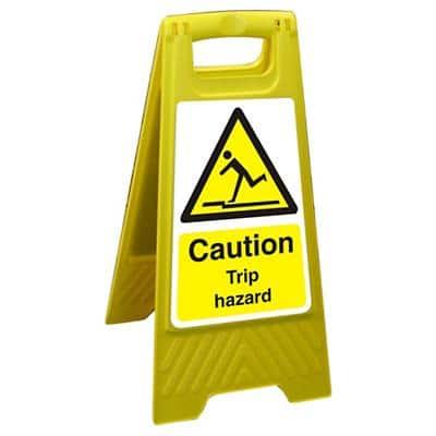Floor Sign Trip Hazard Polypropylene 60 x 30 cm