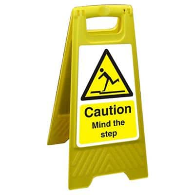 Floor Sign Mind The Step Polypropylene 60 x 30 cm