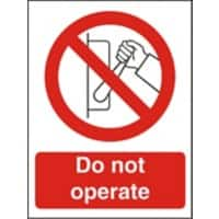 Prohibition Sign Do Not Operate Vinyl 30 x 20 cm