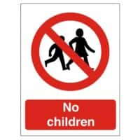 Prohibition Sign No Children Plastic 20 x 15 cm