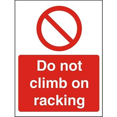 Prohibition Sign Do Not Climb Vinyl 40 x 30 cm