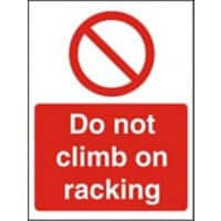 Prohibition Sign Do Not Climb Plastic 20 x 15 cm