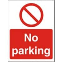 Prohibition Sign No Parking Plastic 30 x 20 cm