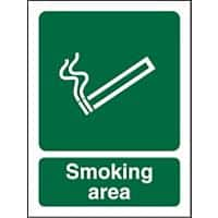 Mandatory Sign Smoking Area Plastic 20 x 15 cm