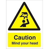 Warning Sign Mind Your Head Plastic 30 x 20 cm