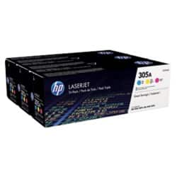 HP 305A Original Toner Cartridge CF370AM 3 Colours 3 pieces
