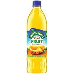 Robinsons orange and pineapple cordial – 1 litre bottle (pack of 12)