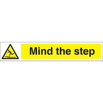 Warning Sign Mind The Step Vinyl 5 x 30 cm