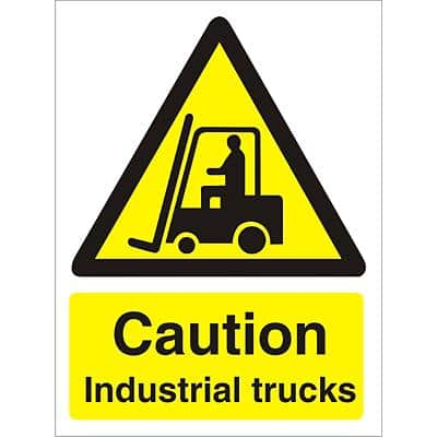 Warning Sign Industrial Trucks Plastic 40 x 30 cm