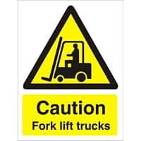 Warning Sign Fork Lift Trucks Vinyl 40 x 30 cm