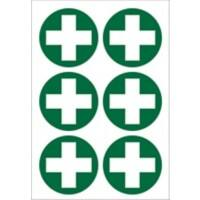 First Aid Sign Cross Pictogram Plastic
