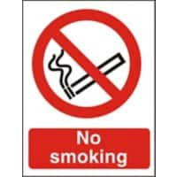 Prohibition Sign No Smoking Vinyl 21 x 29.7 cm