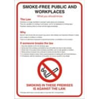 Prohibition Sign No Smoking Plastic 42 x 59.4 cm