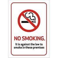 Prohibition Sign No Smoking Vinyl 14.8 x 21 cm