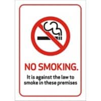 Prohibition Sign No Smoking Plastic 14.8 x 21 cm