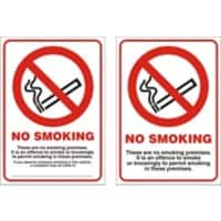 Prohibition Sign No Smoking Vinyl 10.5 x 14.8 cm