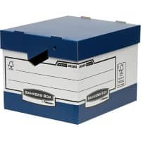 Fellowes BANKERS BOX System Archive Boxes Blue 29.2 x 33.5 x 40.4 cm 10 Pieces