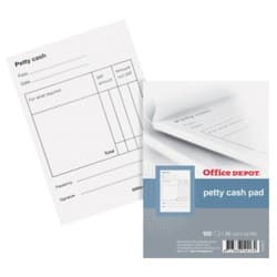 Office Depot petty cash book A6 pack of 10