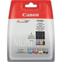 Canon CLI-551BK/C/M/Y Original Ink Cartridge Black, Cyan, Magenta, Yellow Pack of 4