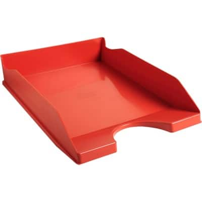 Office Depot letter tray red