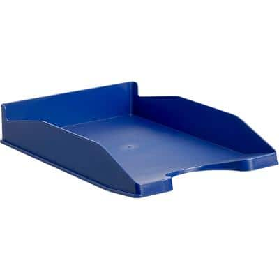 Office Depot letter tray blue