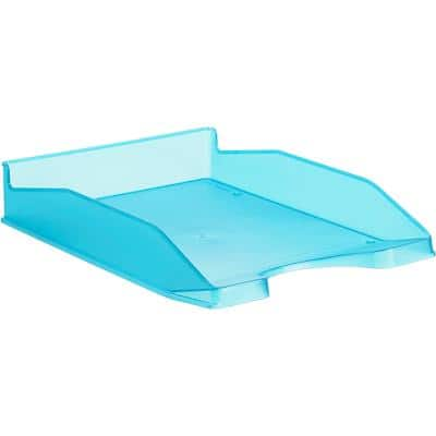 Office Depot Letter Tray Polystyrene Blue, Transparent 25.5 x 34.8 x 6.5 cm