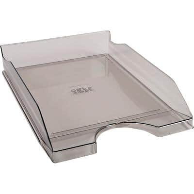Office Depot Letter Tray C4 Transparent Smoke Finish 25.5 x 34.8 x 6.5 cm