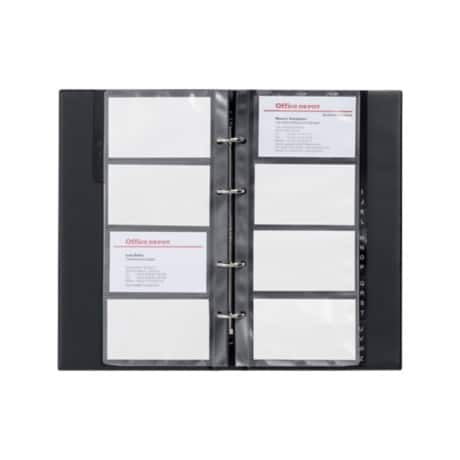 Office Depot Business Card Ring Binder A4 96 Cards Black 255 X 145