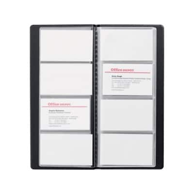 Office Depot Business Card Holder A4 96 Cards Black 25.5 x 11.5 cm