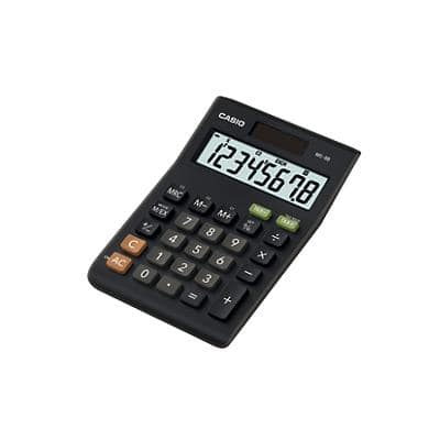 Casio Desktop Calculator MS8B 8 Digit Display Black