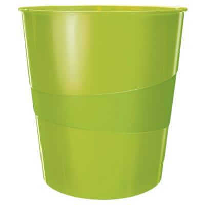 Leitz WOW Waste Bin, Metallic Green