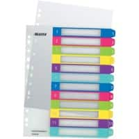 Leitz WOW Printable Indices A4+ Multicolour 12 Part Perforated PP 1 to 12