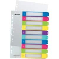 Leitz WOW Printable Indices A4+ Multicolour 10 Part Perforated PP 1 to 10