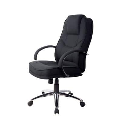 Realspace Basic Tilt Executive Chair with Fixed Armrests and Adjustable Seat Rome2 Black