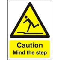 Warning Sign Mind The Step Plastic 40 x 30 cm