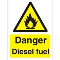Warning Sign Diesel Fuel Plastic 30 x 20 cm
