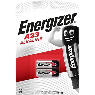 Energizer A23 Batteries E23A 8LR932 55mAh Alkaline 12V Pack of 2